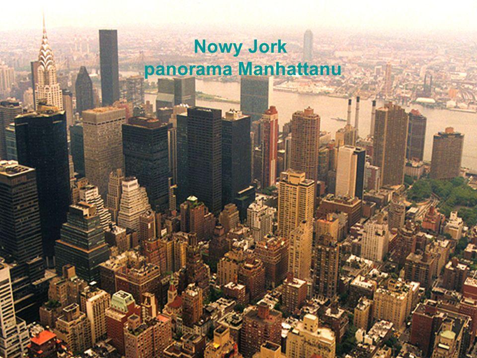 Nowy Jork panorama Manhattanu