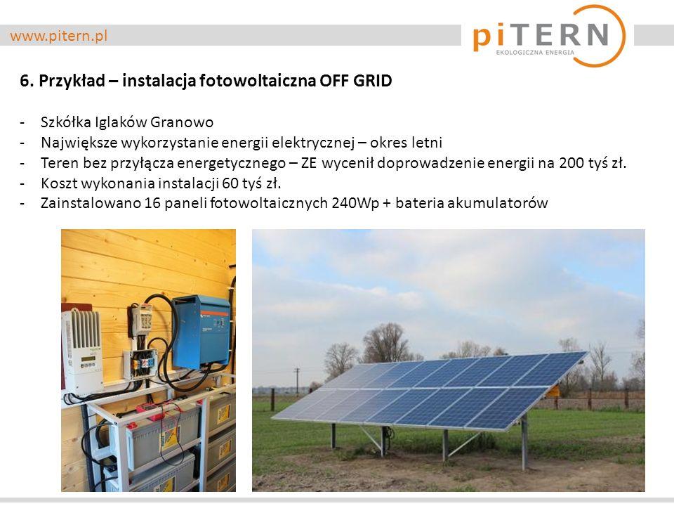 6. Przykład – instalacja fotowoltaiczna OFF GRID