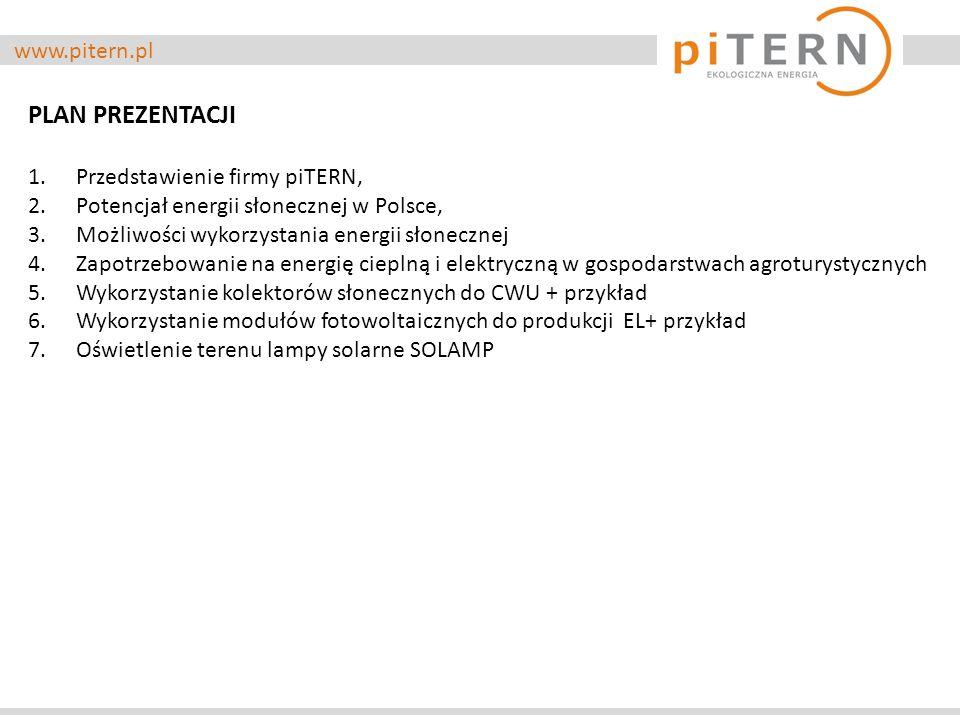 PLAN PREZENTACJI www.pitern.pl Przedstawienie firmy piTERN,