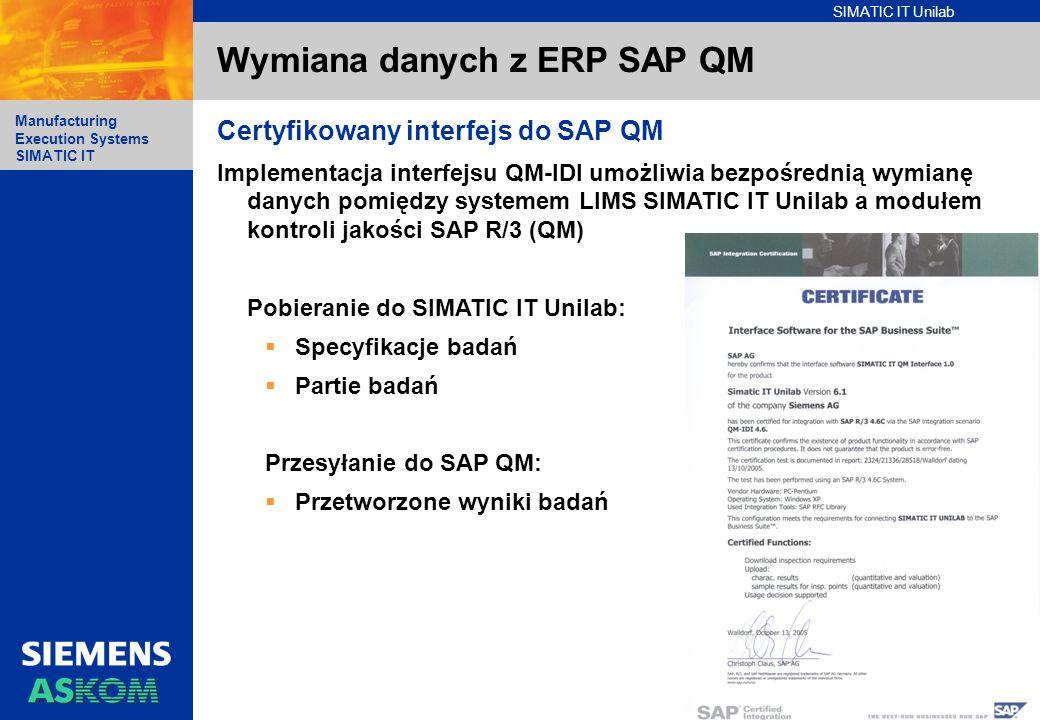Wymiana danych z ERP SAP QM