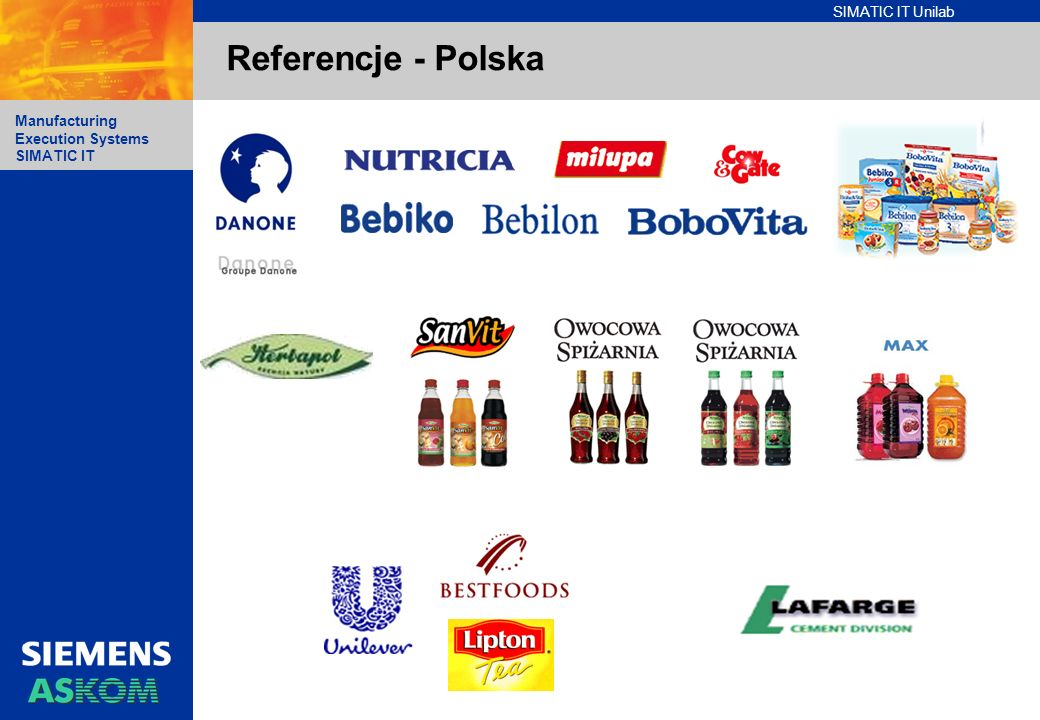 Referencje - Polska Simatic IT Unilab Overview