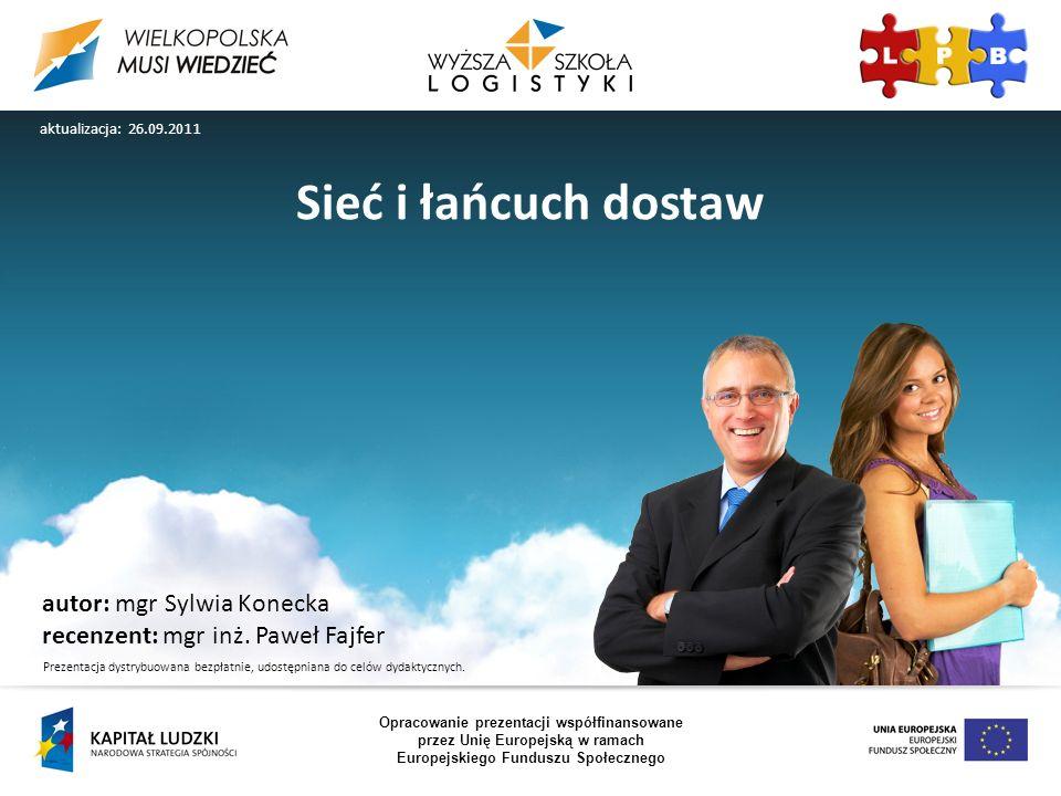 Sieć i łańcuch dostaw autor: mgr Sylwia Konecka