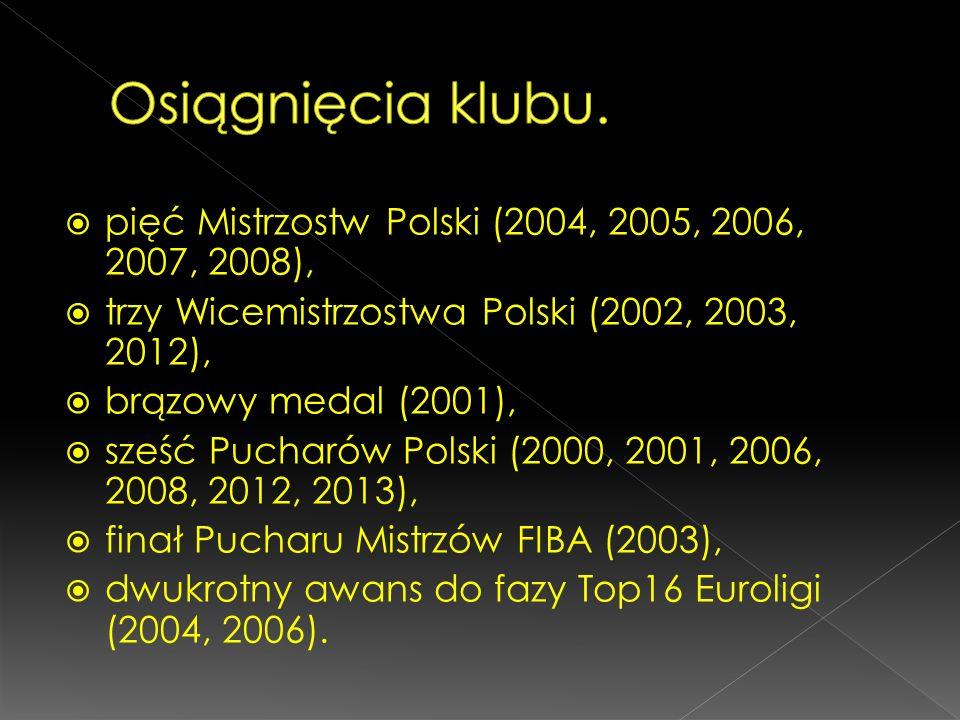 Osiągnięcia klubu. pięć Mistrzostw Polski (2004, 2005, 2006, 2007, 2008), trzy Wicemistrzostwa Polski (2002, 2003, 2012),