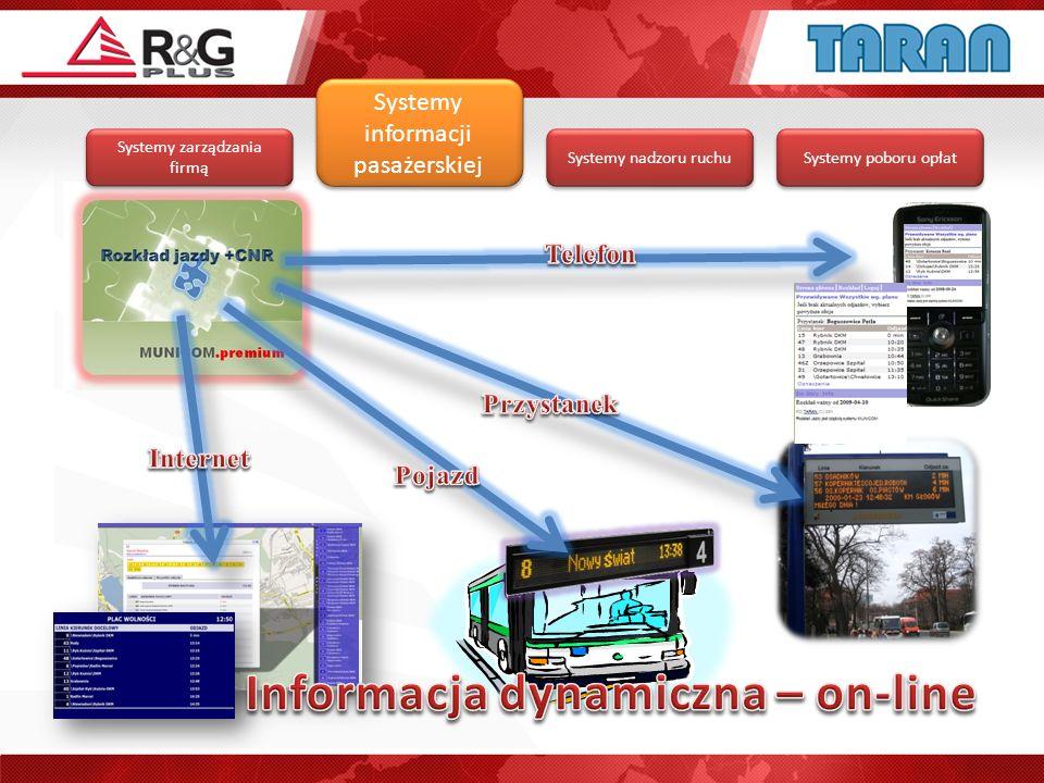Informacja dynamiczna – on-line
