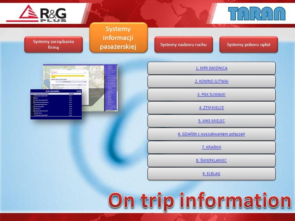 On trip information Systemy informacji pasażerskiej
