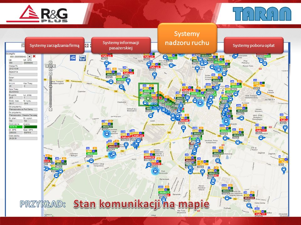Stan komunikacji na mapie