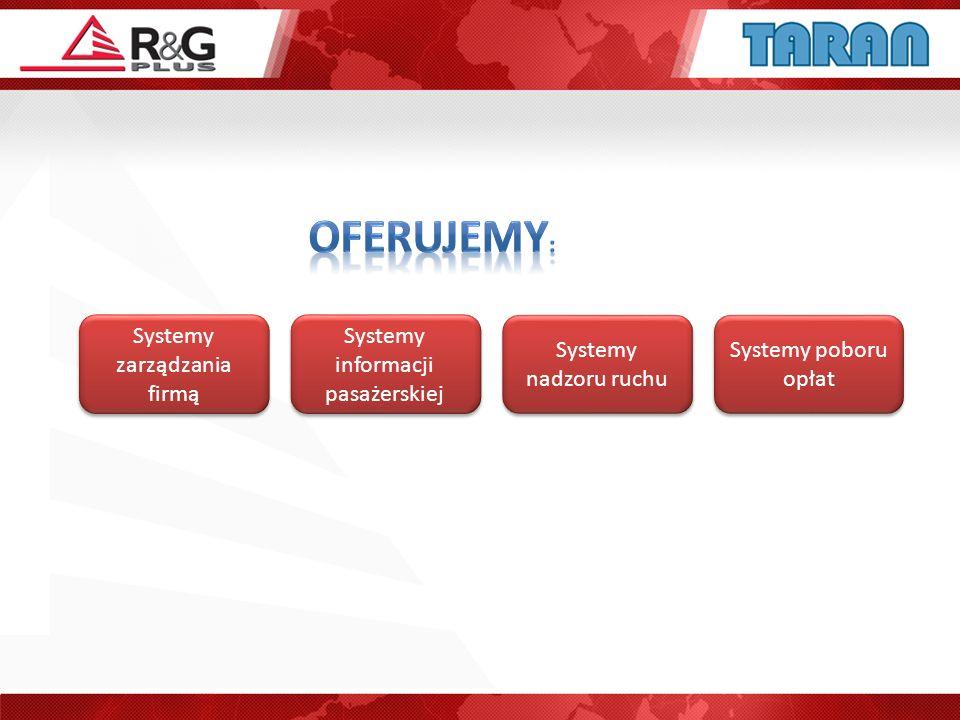 OFERUJEMY: Systemy zarządzania firmą Systemy informacji pasażerskiej
