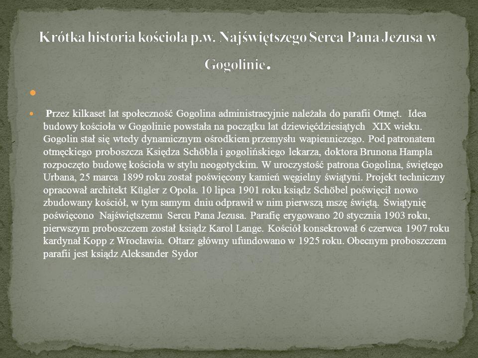 Krótka historia kościoła p. w