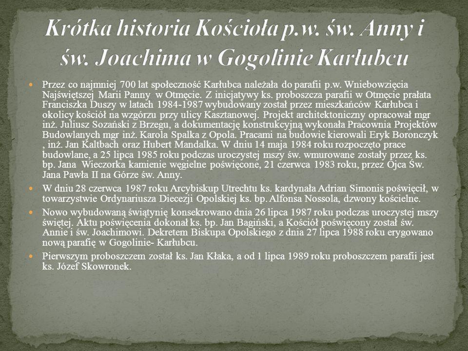 Krótka historia Kościoła p. w. św. Anny i św