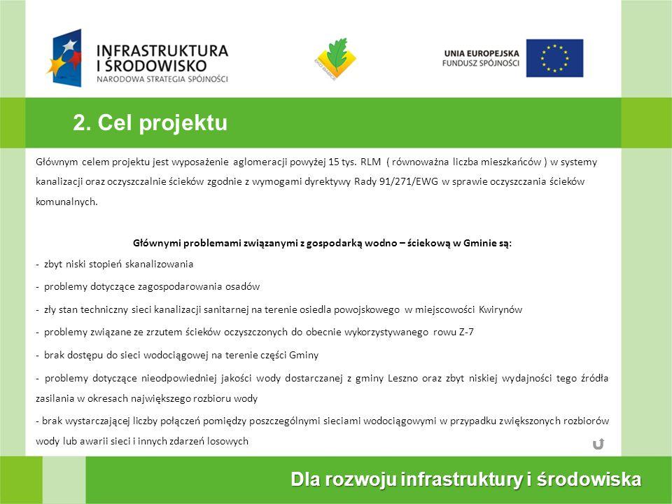 2. Cel projektu Dla rozwoju infrastruktury i środowiska