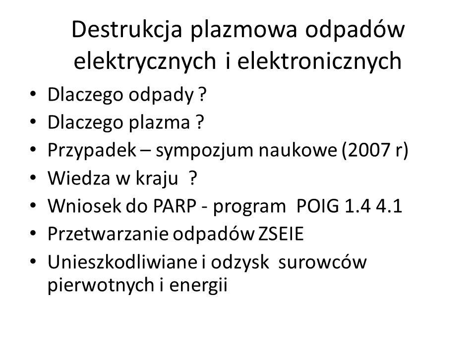 Destrukcja plazmowa odpadów elektrycznych i elektronicznych