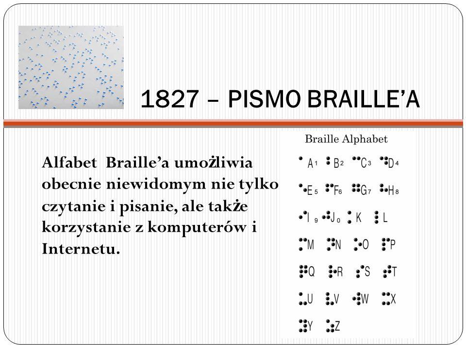 1827 – PISMO BRAILLE'A