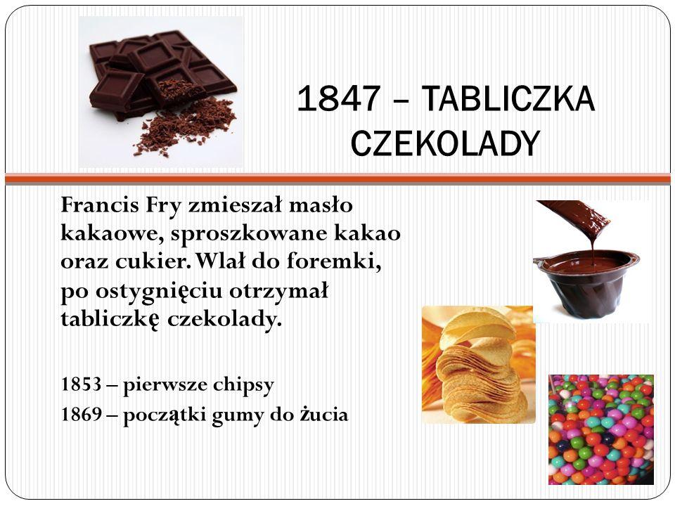 1847 – TABLICZKA CZEKOLADY