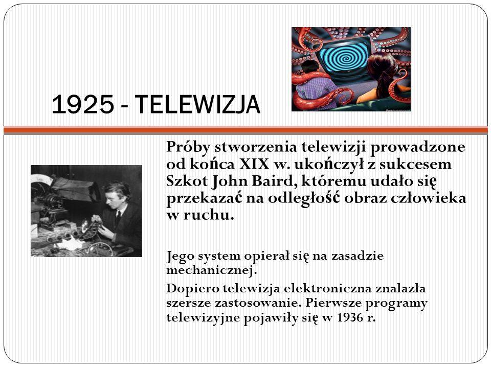 1925 - TELEWIZJA