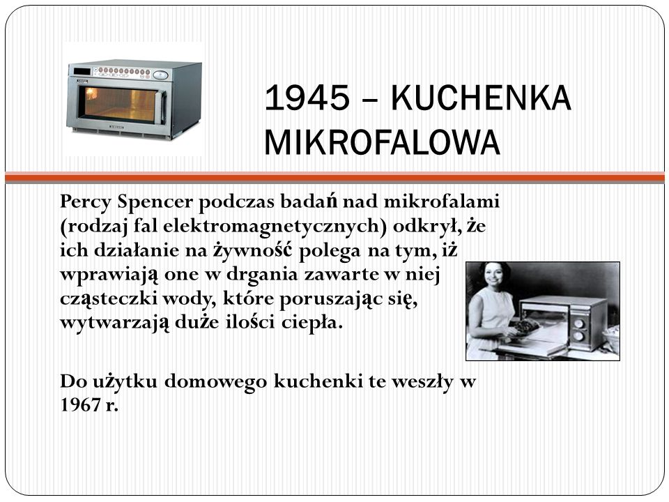 1945 – KUCHENKA MIKROFALOWA