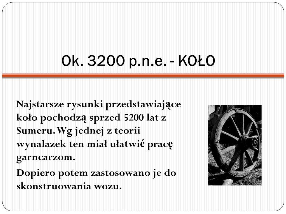 Ok. 3200 p.n.e. - KOŁO