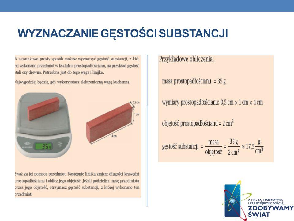 Wyznaczanie gęstości substancji