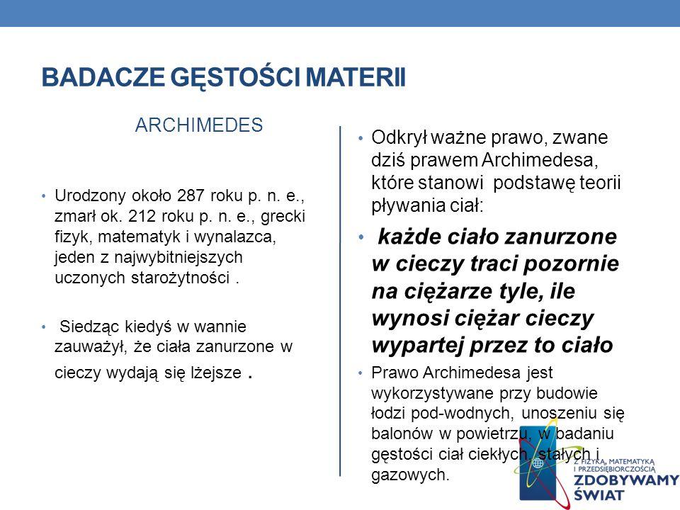 Badacze gęstości materii