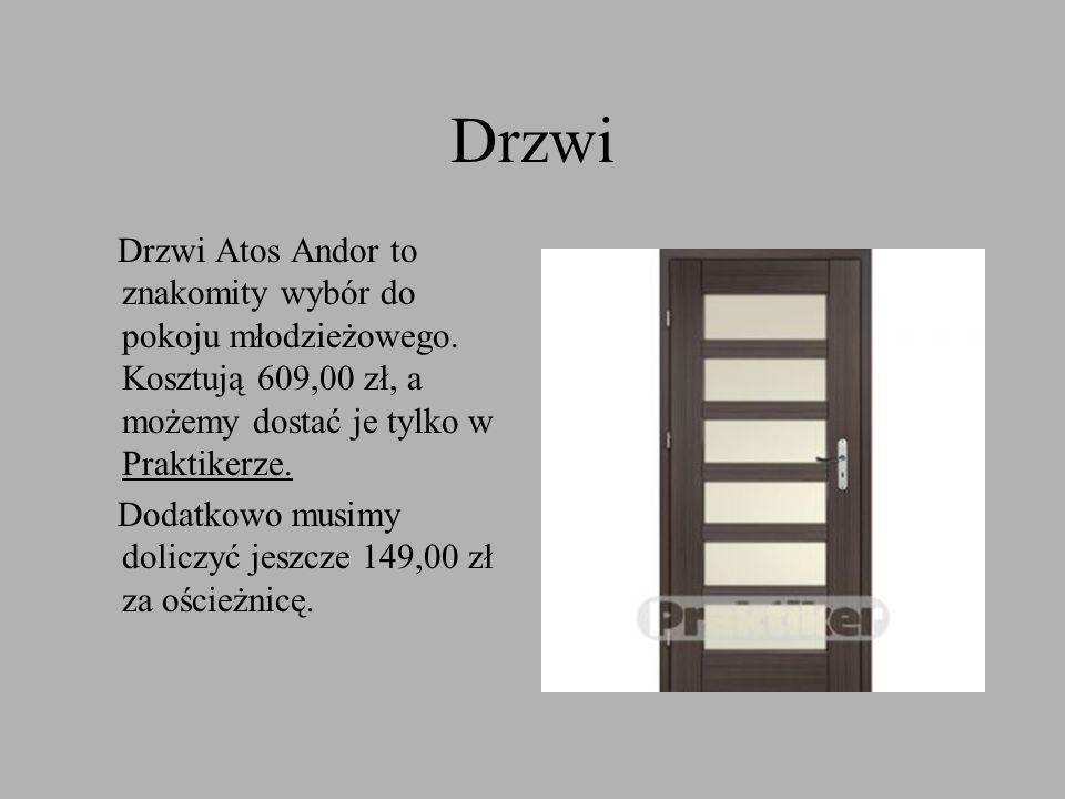 Drzwi Drzwi Atos Andor to znakomity wybór do pokoju młodzieżowego. Kosztują 609,00 zł, a możemy dostać je tylko w Praktikerze.