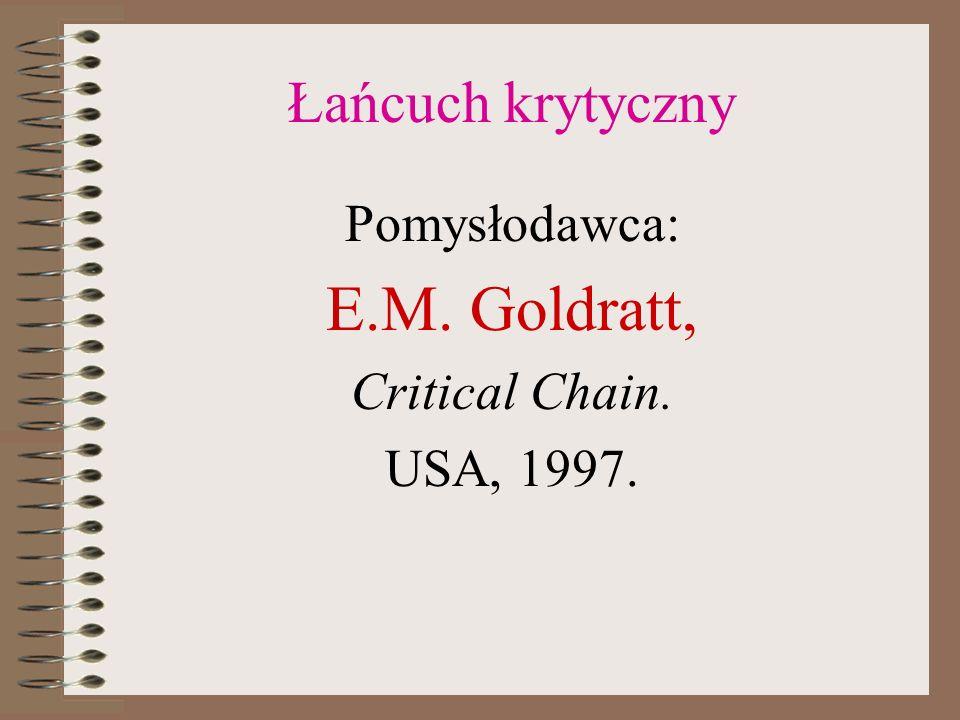 E.M. Goldratt, Łańcuch krytyczny Pomysłodawca: Critical Chain.