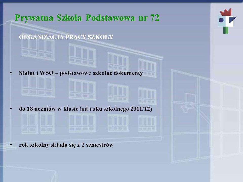 Prywatna Szkoła Podstawowa nr 72