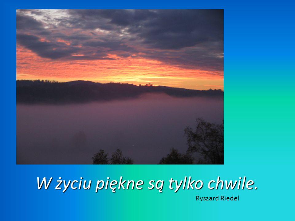 W życiu piękne są tylko chwile. Ryszard Riedel