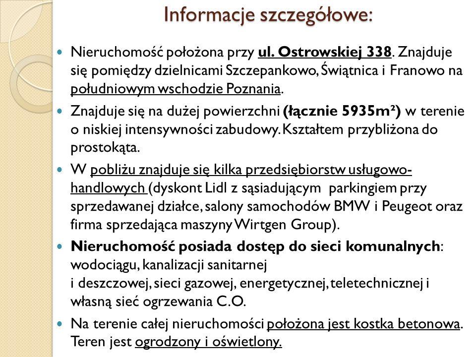 Informacje szczegółowe: