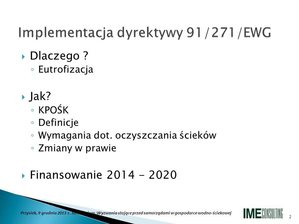 Implementacja dyrektywy 91/271/EWG