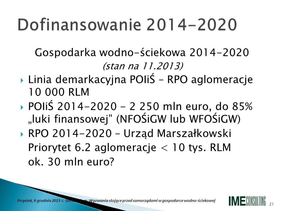 Gospodarka wodno-ściekowa 2014-2020
