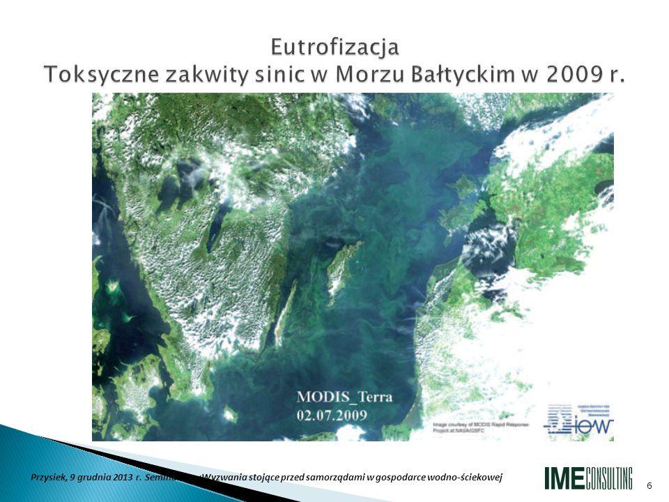 Eutrofizacja Toksyczne zakwity sinic w Morzu Bałtyckim w 2009 r.