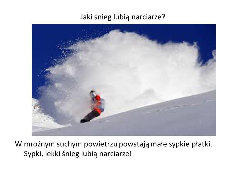Jaki śnieg lubią narciarze