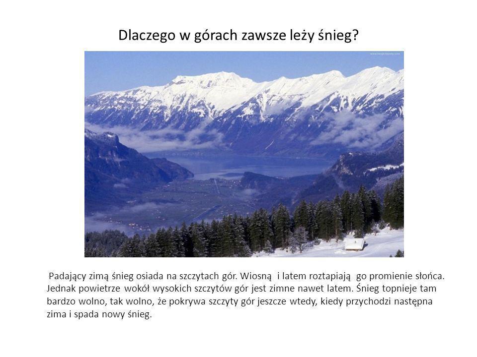 Dlaczego w górach zawsze leży śnieg