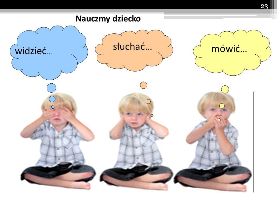 Nauczmy dziecko słuchać… mówić… widzieć…