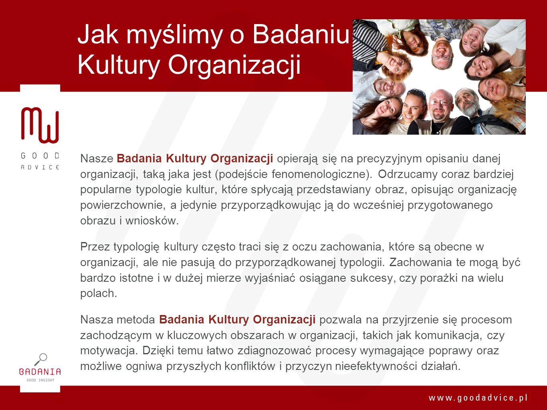 Jak myślimy o Badaniu Kultury Organizacji