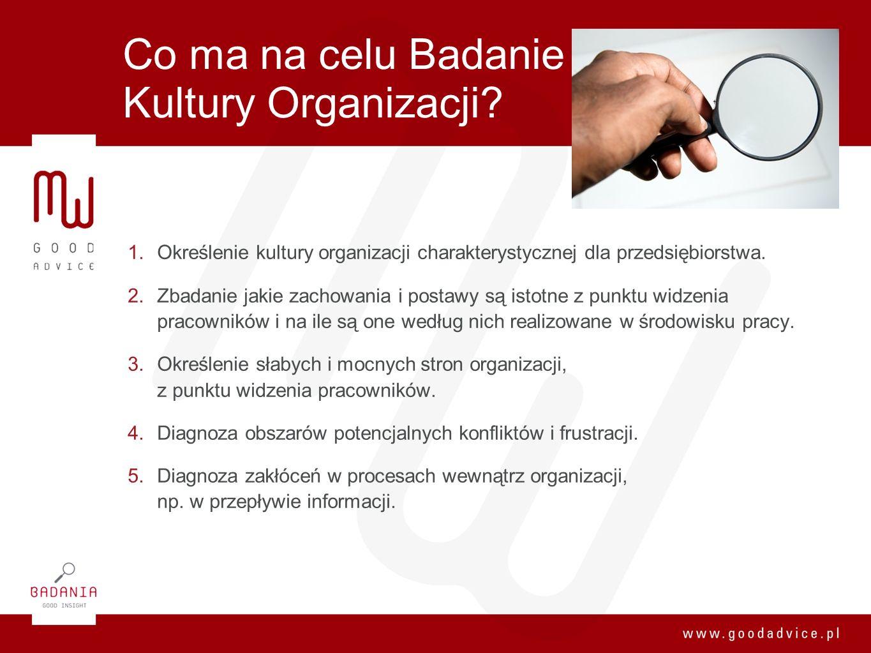 Co ma na celu Badanie Kultury Organizacji