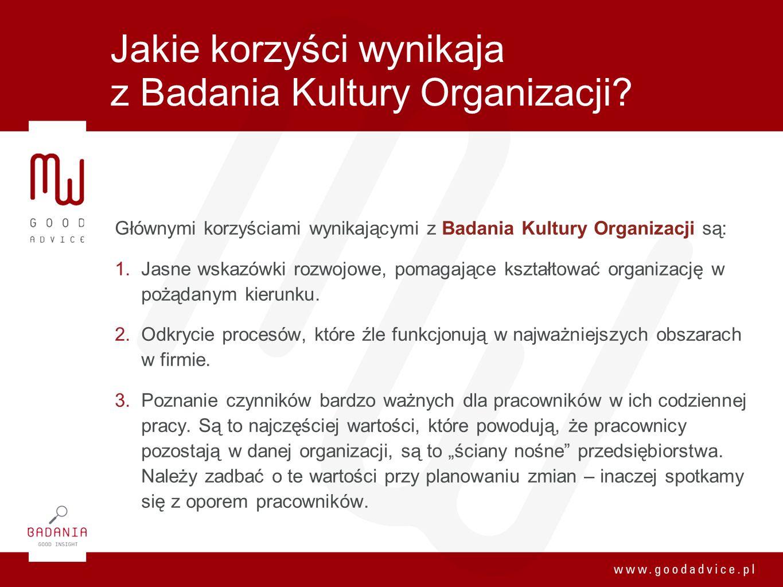 Jakie korzyści wynikaja z Badania Kultury Organizacji