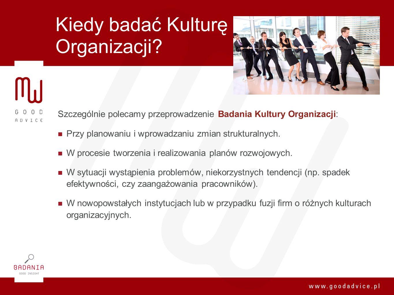 Kiedy badać Kulturę Organizacji