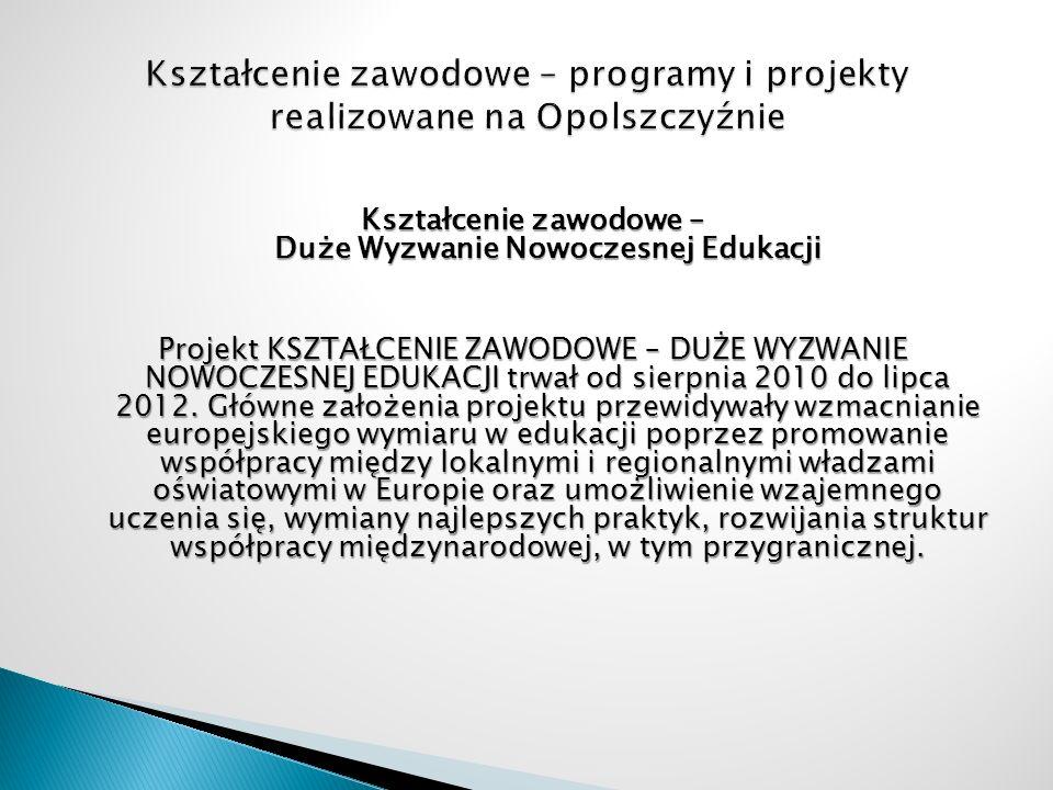 Kształcenie zawodowe – programy i projekty realizowane na Opolszczyźnie