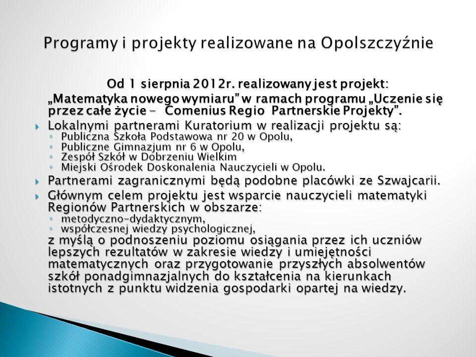 Programy i projekty realizowane na Opolszczyźnie