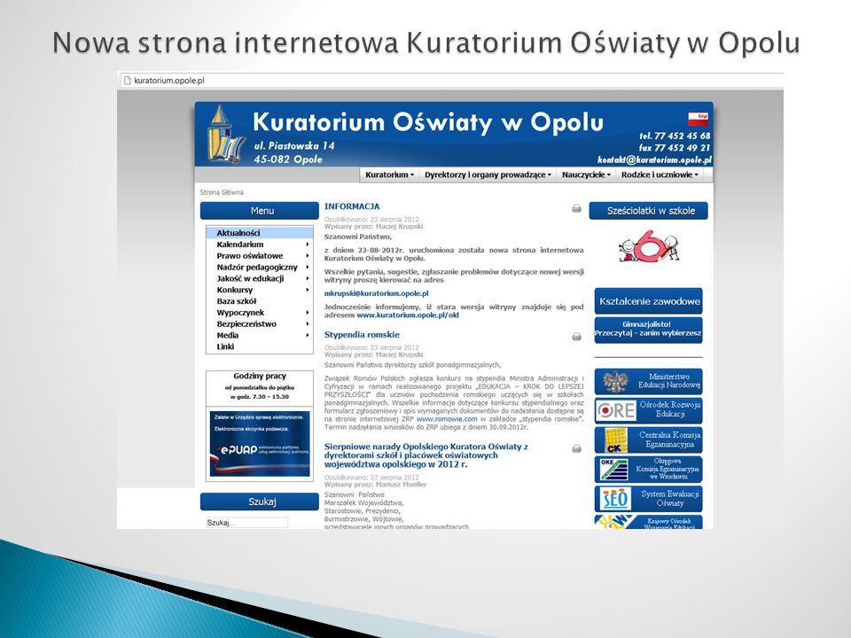 Nowa strona internetowa Kuratorium Oświaty w Opolu