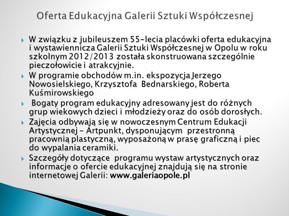 Oferta Edukacyjna Galerii Sztuki Współczesnej