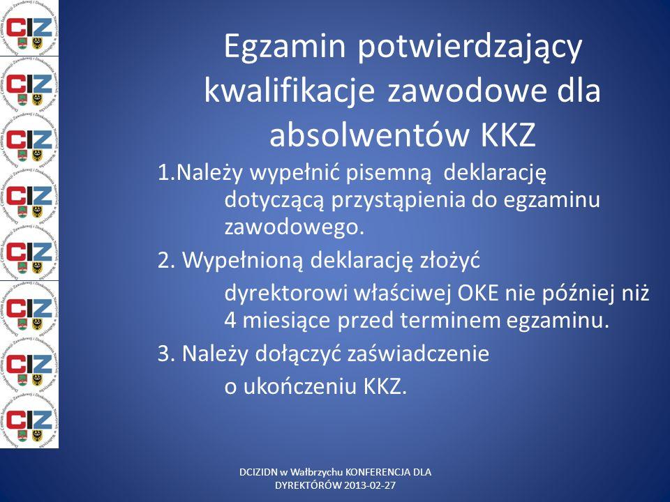 Egzamin potwierdzający kwalifikacje zawodowe dla absolwentów KKZ