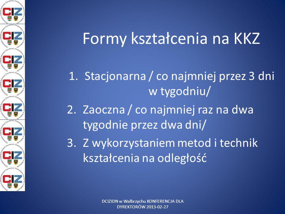 Formy kształcenia na KKZ