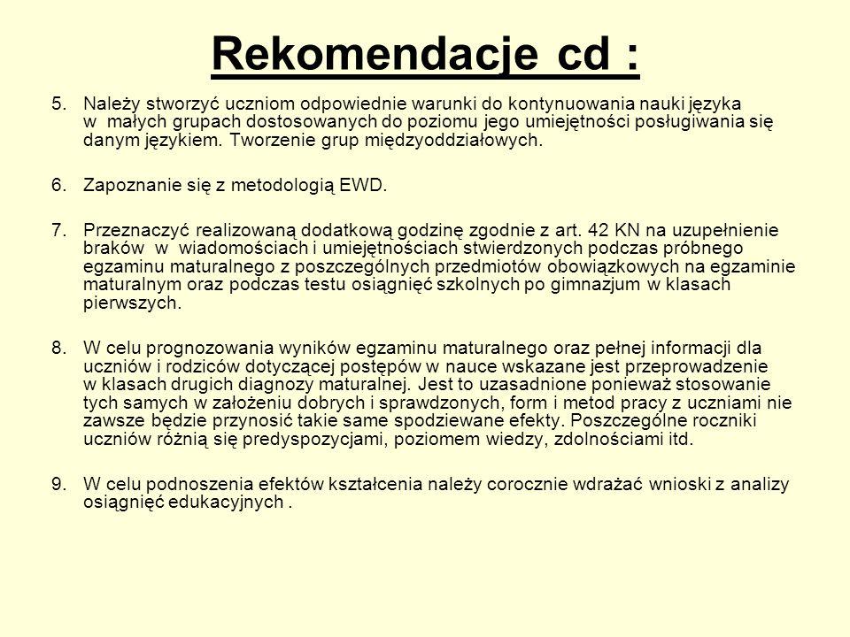 Rekomendacje cd :