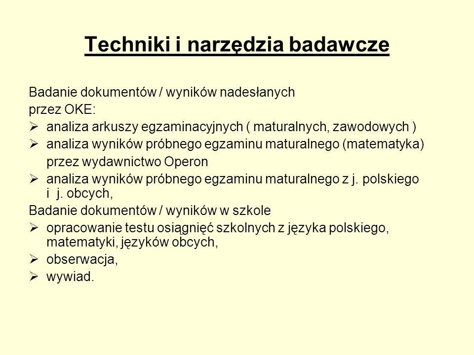 Techniki i narzędzia badawcze