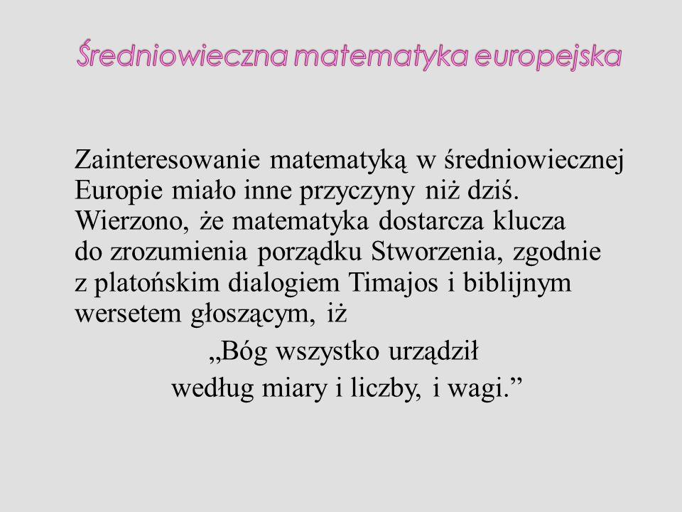 Średniowieczna matematyka europejska