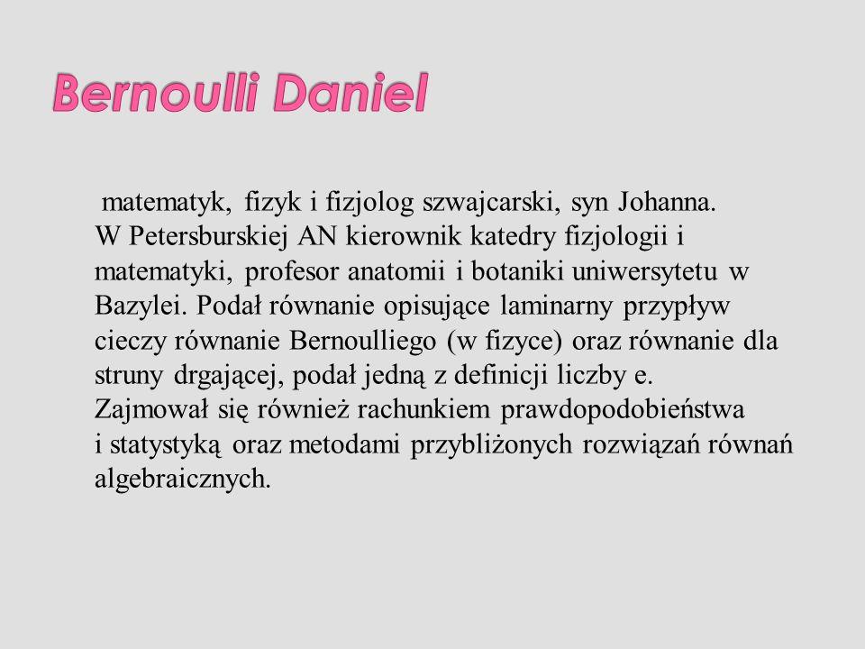 Bernoulli Daniel