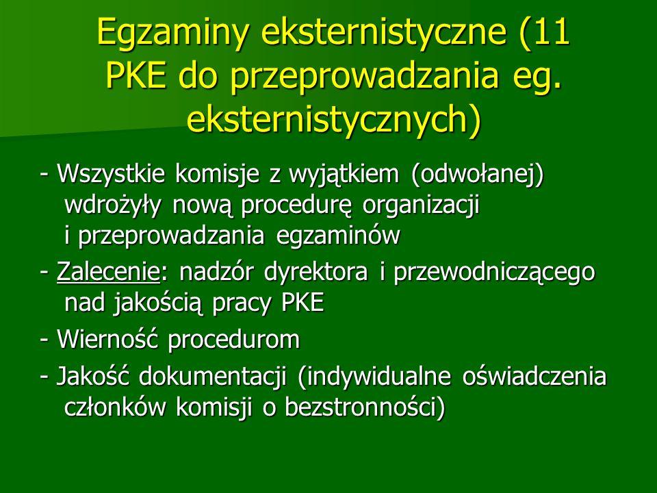 Egzaminy eksternistyczne (11 PKE do przeprowadzania eg