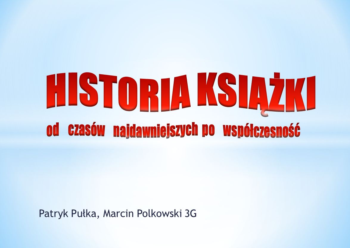 Patryk Pułka, Marcin Polkowski 3G