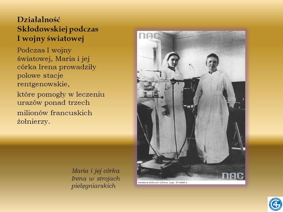 Działalność Skłodowskiej podczas I wojny światowej